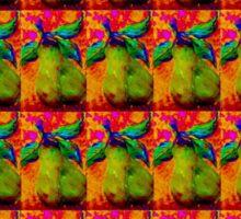 Mirrored Pears Sticker