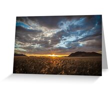 Sunburst Through the Clouds Greeting Card