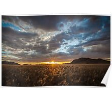 Sunburst Through the Clouds Poster