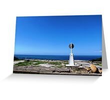 Trig point, Crowdy Head Greeting Card