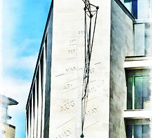 The Noon Sundial at the London Stock Exchange by PictureNZ
