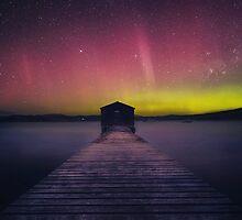Aurora Boomer Bay Boatshed - Tasmania by justinjamestas