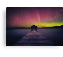 Aurora Boomer Bay Boatshed - Tasmania Canvas Print