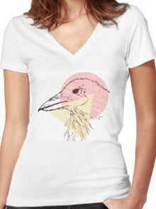 Simplistic Raven 2 Women's Fitted V-Neck T-Shirt
