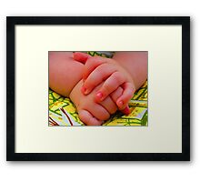 Groovy Little Man Hands Framed Print