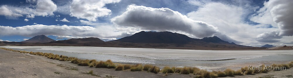 Salt Flats and Mountains by Kenji Ashman