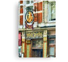 The Punch Tavern, 99 Fleet Street, London Canvas Print
