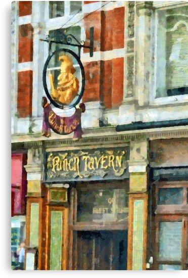 The Punch Tavern, 99 Fleet Street, London by PictureNZ