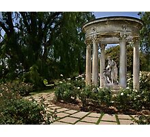 Classical statuary in Huntington Rose Garden Photographic Print