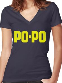 Po-Po-Police Women's Fitted V-Neck T-Shirt