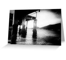 Shoal Bay pier in the sun Greeting Card