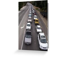 Traffic Jam Two Greeting Card