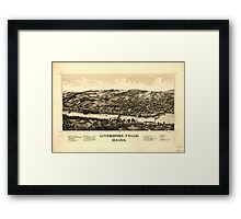 Panoramic Maps Livermore Falls Maine Framed Print