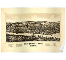 Panoramic Maps Livermore Falls Maine Poster