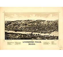 Panoramic Maps Livermore Falls Maine Photographic Print