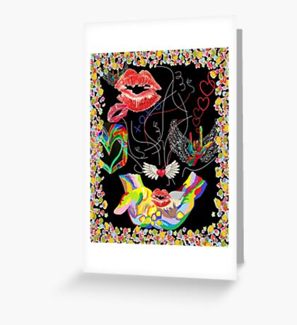 ASL THROWING KISSES and I LOVE YOUs Greeting Card