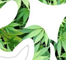 Ohm made of marijuana leaves Sticker