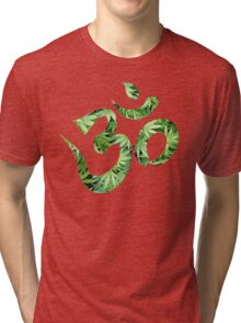 Ohm made of marijuana leaves Tri-blend T-Shirt