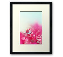 A Drop with Raspberrys and Cream Framed Print