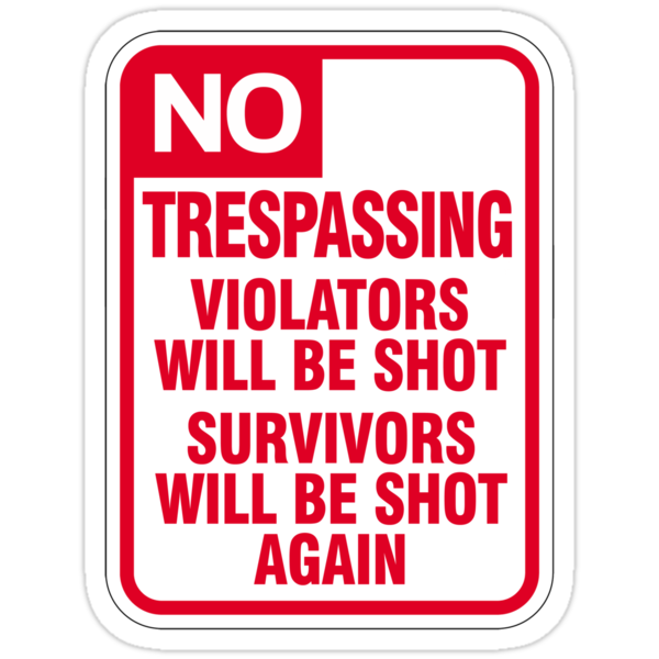 No Trespassing Sign by SignShop