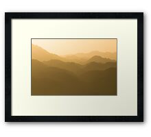 Mountains in Jordan Framed Print