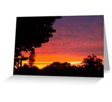 Street sunset Greeting Card