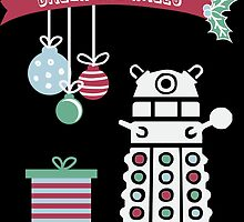 """Dalek the halls"" Christmas Design by Meg Smith"