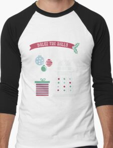 """Dalek the halls"" Christmas Design Men's Baseball ¾ T-Shirt"