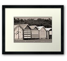 Sepia Bathing Boxes Framed Print