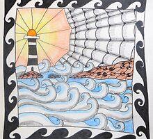 Penmon Lighthouse by Christine Gray
