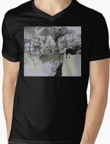 spring storm over the yard Mens V-Neck T-Shirt