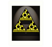 Pizza Triforce In Color Art Print
