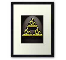Pizza Triforce In Color Framed Print