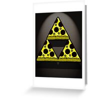 Pizza Triforce In Color Greeting Card
