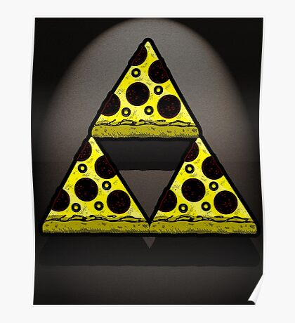 Pizza Triforce In Color Poster