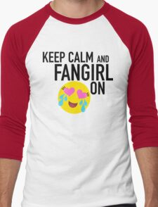 Keep Calm and Fangirl in Black T-Shirt