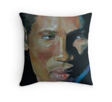 Didier Drogba, with blue powder Throw Pillow