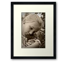Bunny cuddles Framed Print
