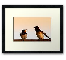 What are you doing now! Framed Print