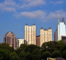 Downtown Atlanta from Piedmont Park by KSKphotography