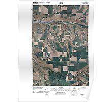 USGS Topo Map Washington State WA Pomeroy 20110406 TM Poster