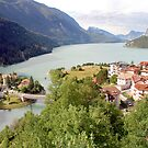 Molveno on the lake with the same name by Arie Koene