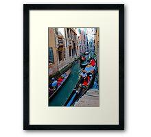Colorful gondolas  Framed Print