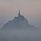 Mont St. Michel in the fog by Michael Brewer