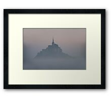 Mont St. Michel in the fog Framed Print