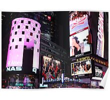 Times Square in New York City (pink) Poster