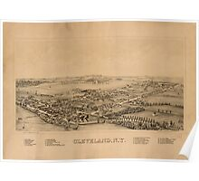 Panoramic Maps Cleveland NY Poster