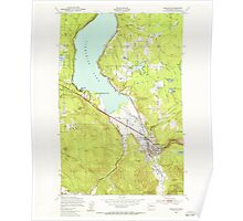 USGS Topo Map Washington State WA Issaquah 241674 1950 24000 Poster