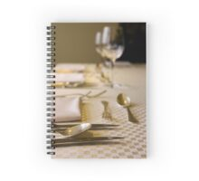 Atmospheric image of a Festive table setting for a formal dinner  Spiral Notebook