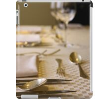 Atmospheric image of a Festive table setting for a formal dinner  iPad Case/Skin